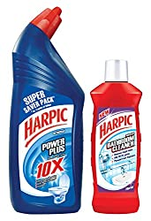 Harpic Original Toilet Cleaner - 1 L (Pack of 2) and Free Harpic Bathroom Cleaner - 500 ml