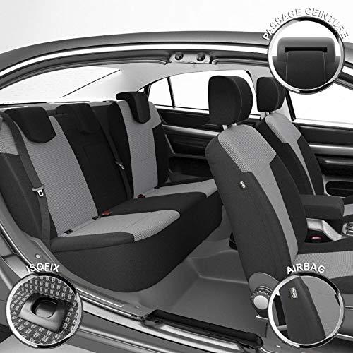DBS 1011557 Coprisedili Auto / Vettura - Su Misura - Rifinizioni Alta Gamma - Montaggio Rapido - Compatibile Airbag - Isofix