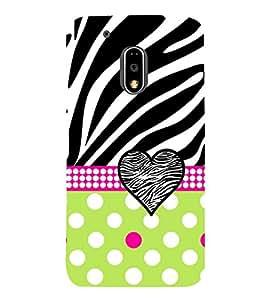Green Dot Heart Love 3D Hard Polycarbonate Designer Back Case Cover for Motorola Moto G4 :: Motorola Moto G (4th Gen)