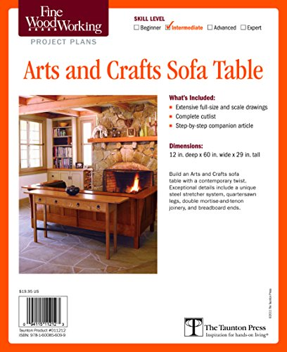 Fine Woodworking's Arts and Crafts Sofa Table Plan (Fine Woodworking Project Plans)