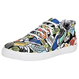Kraasa Men's Multicolor Synthetic Sneakers - 9