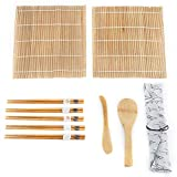 9Pcs / Set Bamboo Sushi que hace el kit incluye 2 esteras del balanceo 5 palillos 1 paleta 1 Sushi Blade Tool Accessories