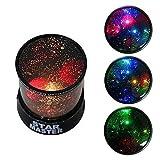 Sternenhimmel Projektor Modell Projektor lampe Farbwechsler Lampe, Dekoration Licht, romantische Nacht Lampe, 3 Helligkeiten zu wahlen (1 Stück)