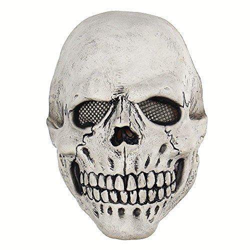 Qlan Neuheit Halloween Kostüm Party Latex Maske Skelett