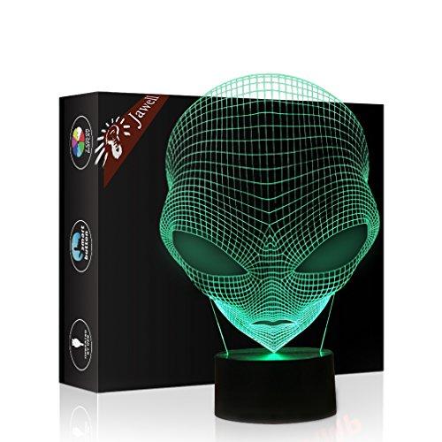 Jawell, lámpara luz nocturna, efecto 3D, diseño de Marciano, 7colores cambiantes, USB,...