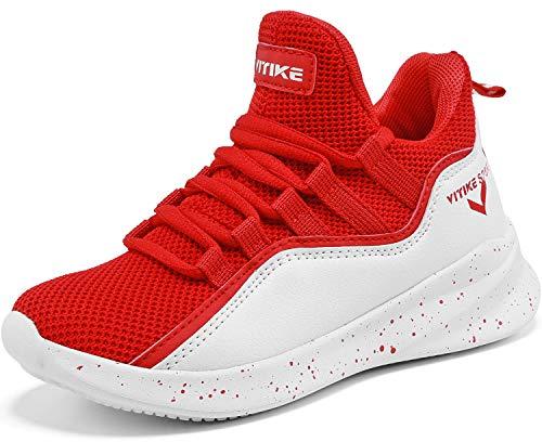 Zapatillas Unisex Niños Zapatos de Baloncesto Casual Zapatos Correr Sneakers para Hombre, 6 Rojo, 31...