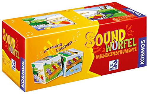 Kosmos 697389 - Soundwürfel Musikinstrumente, Kinderspiel