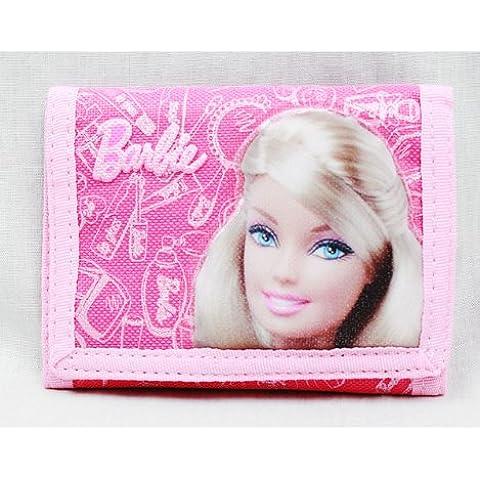 Portafoglio Trifold-Barbie, colore: rosa, confezione regalo ufficiale ba15860 Girls Toys