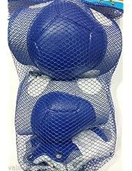 2 X Rodilleras, 2 X Coderas y 2 X Protección Patines, Bicicleta, Skater, Monopatines (Azul)
