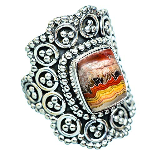 Crazy Lace Agate, Crazy Lace Achat 925 Sterling Silber Ring 7 (Ana Silver Co Ringe)