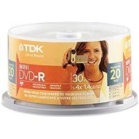 TDK Electronics DVD-R14RGACB20 8CM Mini DVD-R 20 Pack