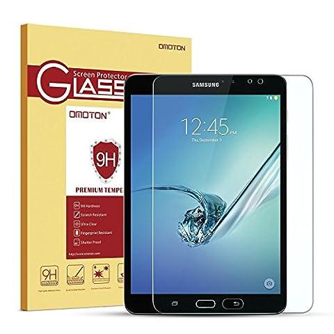 Omoton Film Samsung Galaxy Tab S2 8.0 version Wi-Fi SM-T710, protecteur d'écran en verre trempé - Protection écran