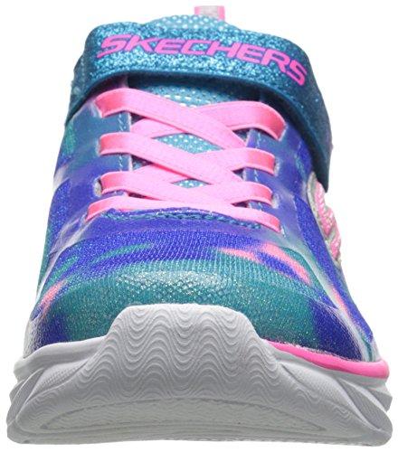 Skechers Pepsters, Scarpe da Ginnastica Basse da Bambine e Ragazze Blu (Blue/Pink)