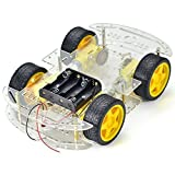 #2: ElectroBot 4 Wheel Robot Smart Car Chassis Kits Car with Speed Encoder for Arduino