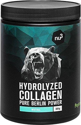 nu3 Kollagen-Hydrolysat vom Rind - 320g Pulver Geschmacksneutral - Protein-Pulver aus reinen Collagen-Peptiden - für Muskeln, Gelenke und Bindegewebe - 100% rein - frei von Gluten und Laktose
