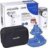 Microlife NEB800 - Inhalador portátil, silencioso, para niños y adultos, eficaz en enfermedades