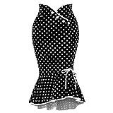 Sylar Falda Flamenca Mujer Faldas Mujer Cortas Verano Estampado De Lunares Faldas Largas Bohemias con Volantes
