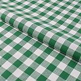Stoff Meterware, Karo 15x15 mm, Grün und Weiß, Baumwolle,