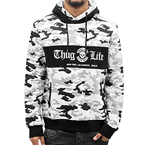 Thug Life Ragthug Hoody White Herren Kapuzen Pullover 2XL