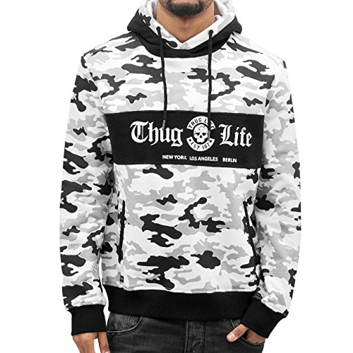 Thug Life Ragthug Hoody White Herren Kapuzen Pullover