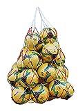 2Pcs Sac de Balles Filet Sacoche en Maille Filet Transport pour Ballon Robuste Sac Bandoulière Grande Capacité Filet Rangement Basket-ball Football avec Cordon Serrage pour 10-12 Balles