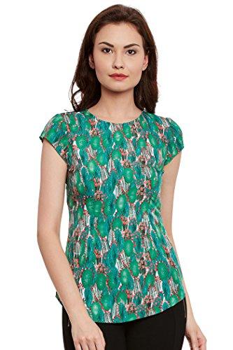 The Vanca Women's Green Printed Top