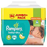 Pampers Baby-Dry Windeln Mini Größe 4 (Maxi) 8-16 kg Mega Pack 86 Schichten