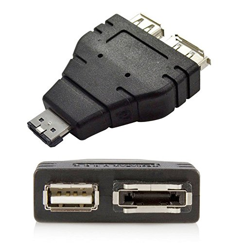 Power eSATA to eSATA + USB Combo Splitter Converter Adapter Connector Hard Disk Cable Dual Port Converters Universal
