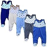 MEA BABY Unisex Strampler mit Aufdruck, Baumwolle, 5er Pack. Baby Strampler Mädchen Baby Strampler Junge (62, Jungen)