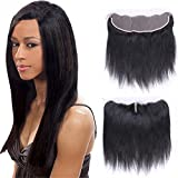 Silkylong Brazilian hair Closure Straight Wavy ear to ear Lace Closure on Prime 13 x 4 Free Part Brazilian hair 100 Human hair Extension Weave 10inch