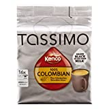 Tassimo Kenco Pure Colombian, Kaffee, Kaffeekapsel, gemahlener Röstkaffee, 16 T-Discs