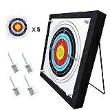 Zielscheibe 50x50 cm Schießscheiben Ständer für Bogenschützen