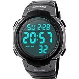 orologio digitale uomo,Welltop orologio uomo digitale con sveglia con quadrante grande,orologio sportivo uomo impermeabile da
