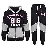A2Z 4 Kids® Kinder Mädchen Trainingsanzug Brooklyn 86 Tigers Aufdruck - T.S Brooklyn 86 Black 9-10