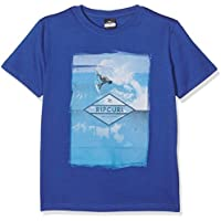 Rip Curl New Good Day Bad Day Ss Camiseta, Niños, Azul (True Blue), L /14
