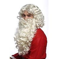 Wig me up - 46-A+B-ZA613 Perücke und Bart Set Deluxe Weihnachtsmann Santa Claus Nikolaus Ruprecht Gott Hellblond