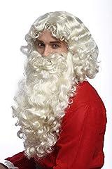 Idea Regalo - WIG ME UP ® - 46-A+B-ZA613 Set Parrucca e Barba Deluxe Babbo Natale Santa Claus San Nicola Ruprecht Dio Biondo Chiaro