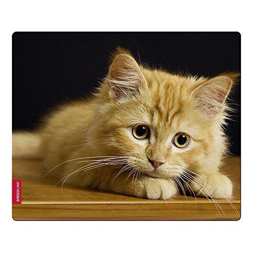 Speedlink Mauspad mit seidenweicher Textiloberfläche - SILK Mouse Pad Baby Cat (antistatische Wirkung - perfekte Gleiteigenschaft - Abmaße: 230 x 190 x 0,15 mm (B x H x T)) PC / Computer Mousepad