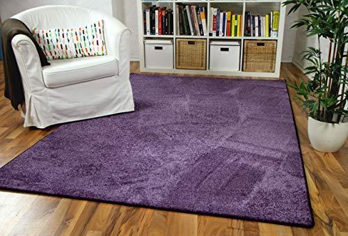 Snapstyle Hochflor Velours Teppich Luna Lila in 24 Größen