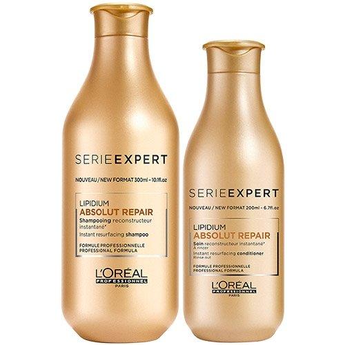 L'Oreal Professionnel Serie Expert Lipidium Absolut Repair Shampoo 300 ml und Conditioner 200 ml Duo -