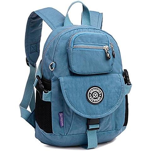 Tiny Chou Sport-Zaino in Nylon impermeabile, leggero e resistente, Zaino (Flap Satchel Handbag)