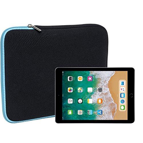 Slabo Tablet Tasche Schutzhülle für iPad 9.7 (2017)/iPad 9.7 (2018) Hülle Etui Case Phablet aus Neopren – TÜRKIS/SCHWARZ