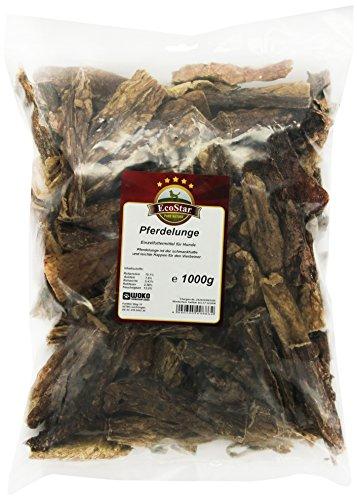 EcoStar Hunde Snack Pferdelunge 1kg, 1er Pack (1 x 1 kg) (Hundefutter-ergänzung)