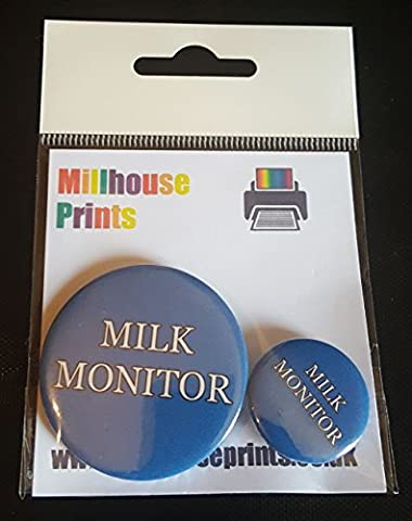 Milk Monitor - Multi-Pack of Fun Novelty Pin Badges