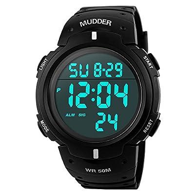 Mudder Men Sports 5ATM Dive Waterproof Blacklight Digital Fashion Military Multifunctional Wristwatches