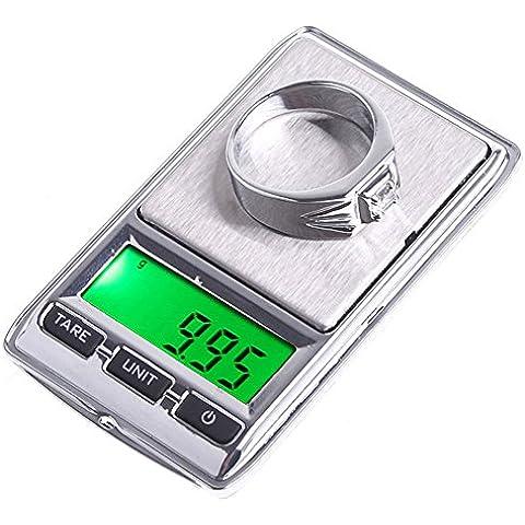 vyage (TM) nuovo mini bilancia digitale 0,01g LCD portatile elettronico Jewelry Joyeria Bilancia Peso ponderazione diamante tasca bilancia