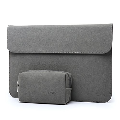 HYZUO 15 Zoll Macbook Pro Hülle Laptop Tasche Wasserdichte Laptophülle für 15,4 Zoll Neu MacBook Pro 2016-2018/MacBook Pro Retina/Dell XPS 15 Laptoptasche Notebooktasche mit Kleine Tragetasche, Dunkelgrau H
