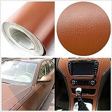 TOTAL HOME 24x46 3D Brown Leather skin Vinyl PVC Wrap Car