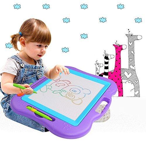 Hiwatch Zaubermaltafel Bunt Magische Zeichentafel Magnetisch Löschbar Zeichenbrett Baby/Kinder-Fähigkeit-Entwicklung Lerntafel Reißbrett Kindergeschenk