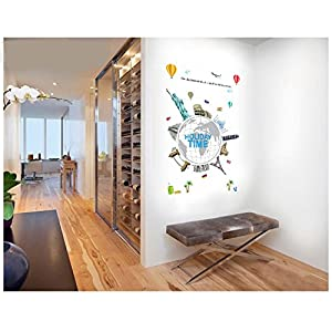 FangKuai FKAL0376 Mundo Vinilo Decorativo De Pared Viaje Mapa Muurstickers Sala De Televisión Dormitorio Telón De Fondo Pegatinas La Decoración Del Hogar Que Viven